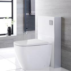 Hirayu Japanisches Stand-Dusch-WC mit Saru Sanitärmodul H 822mm Weiß