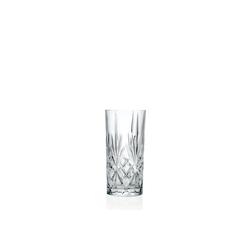 RCR Longdrinkglas RCR Melodia HB Tumbler 6er set, Kristallglas