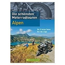 Die schönsten Motorradtouren Alpen. Heinz E. Studt  - Buch