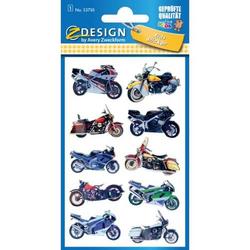 Sticker 76x120mm Metallic 1 Bogen Motorräder