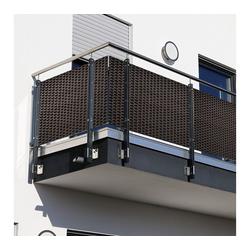 dynamic24 Balkonsichtschutz Polyrattan PVC Sichtschutzmatte 300x100 Balkon Sichtschutz Zaun Windschutz