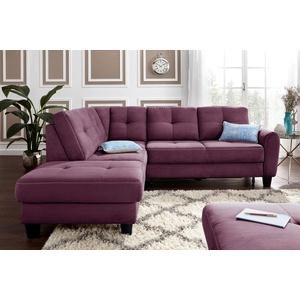 sit&more Ecksofa, mit Federkern, wahlweise mit Bettfunktion und Stauraum lila