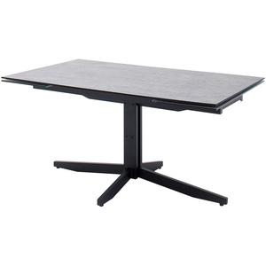 HPL/Glas-Säulentisch ausziehbar ¦ grau ¦ Maße (cm): B: 90 H: 76 » Möbel Kraft