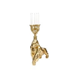KARE Kerzenständer Kerzenständer Gorilla Gold