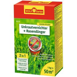 WOLF-Garten Unkrautvernichter 2 in 1 - Unkrautvernichter + Rasendünger, Granulat