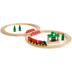 BRIO Spielzeug-Eisenbahn Bahn Acht Set - Classic Line, Made in Europe, FSC-Holz aus gewissenhaft bewirtschafteten Wäldern beige Kinder Kindereisenbahnen Autos, Eisenbahn Modellbau