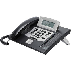 Auerswald COMfortel 1600 Systemtelefon, ISDN Headsetanschluss, Freisprechen, Touchscreen Beleuchtete
