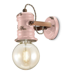 Ferroluce LED Deckenstrahler Urban Keramik rosa