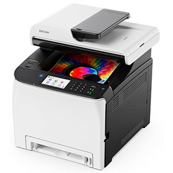 RICOH SP C261SFNw 4 in 1 Farblaser-Multifunktionsdrucker grau