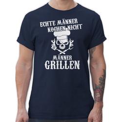 Shirtracer T-Shirt Echte Männer kochen nicht Männer grillen - Küche & Grill - Herren Premium T-Shirt XL