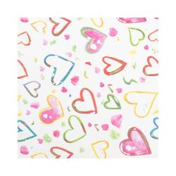 STAR Geschenkpapier, Seidenpapier buntes Herz Muster 50x75cm, 25 Bögen