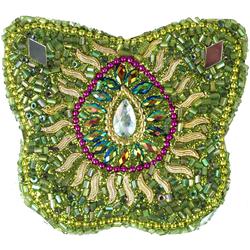 Guru-Shop Aufbewahrungsdose Indisches Schmuckdöschen, Perlendöschen,.. grün