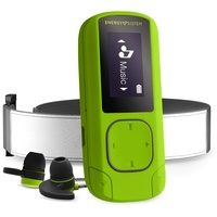 Energy Sistem MP3 Clip BT Sport Greenstone 16GB FM Radio, Sport Earphones, Armband, microSD