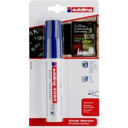 Edding 4090 4-4090-1-1003 Kreidemarker Blau 4 mm, 15mm