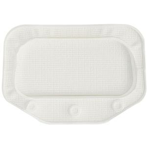 Sealskin Unilux Badewannenkissen mit Saugnäpfen, Farbe: Weiß, Größe: 32x22 cm