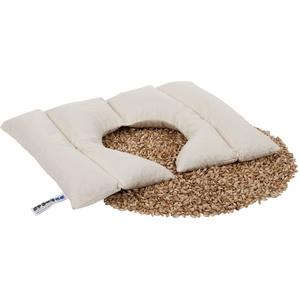 Dinkelwärmeauflage mit Ausschnitt Dinkelkissen Wärmekissen Körnerkissen 55x35 cm