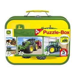 Schmidt Spiele Puzzle Puzzle-Box John Deere 2x60, 2x100 Teile, 320 Puzzleteile
