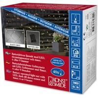 Konstsmide 3723-100 Girlande Kunststoff Schwarz