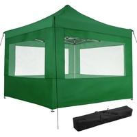 Tectake Faltpavillon 3 x 3 m inkl. 4 Seitenteile grün
