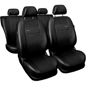 Carpendo Sitzbezüge Auto Set Autositzbezüge Schonbezüge Vordersitze und Rücksitze - Airbag geeignet - X-Line - Schwarz