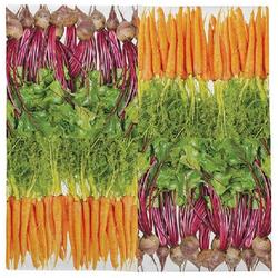 Linoows Papierserviette 20 Servietten mit heimischem Gemüse, Gemüsesorten, Motiv heimisches Gemüse, Gemüsesorten