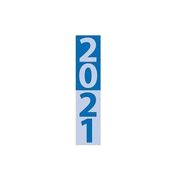 Streifenplaner Compact Blau 2021
