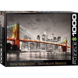 empireposter Puzzle New York City Brooklyn Bridge - 1000 Teile Puzzle im Format 68x48 cm, Puzzleteile