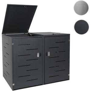 XL 2er-/4er-Mülltonnenverkleidung HWC-E83, Mülltonnenbox Mülltonnenabdeckung, erweiterbar 108x66x94c