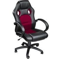 TecTake Racing Bürostuhl schwarz / weinrot