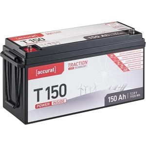 Accurat Traction T150 LFP 12V LiFePO4 Lithium Versorgungsbatterie 150 Ah
