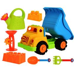 Strandspielzeug LKW Set - Gießkanne Förmchen Schaufel Laster Kipper Sandspielzeug