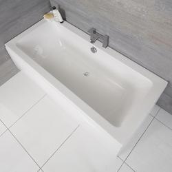 Standard Badewanne 1800mm x 800mm Rechteckig - ohne Paneel, von Hudson Reed