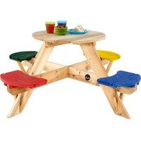 Plum Kinder Picknicktisch rund mit farbigen Sitzen