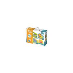 Trefl Puzzle Baby Puzzle - Safaritiere (3/4/5/6 Teile), Puzzleteile