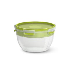 Emsa Salatbox rund Clip & Go in hellgrün, 2,6 l