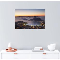 Posterlounge Wandbild, Zuckerhut und Botafogo Bay 100 cm x 70 cm