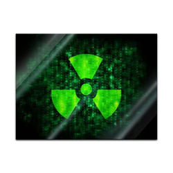 Bilderdepot24 Glasbild, Glasbild - Radioaktiv 60 cm x 40 cm