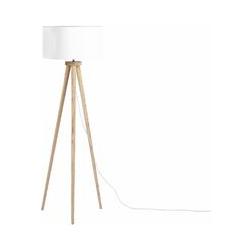Moderne Stehlampe Polybaumwolle/Holz weiß Nitra