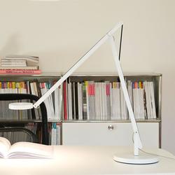 String LED-Tischleuchte mit Dimmer Weiß