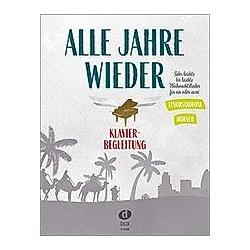 Alle Jahre wieder - Klavierbegleitung zu T-Sax/Hrn - Buch