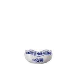 Hutschenreuther Schüssel Blau Zwiebelmuster Schüssel 18 cm eckig, Porzellan
