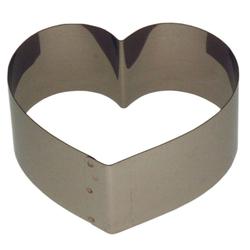 LARES Herzkuchenform 6002-3, Herzbackform klein, aus rostfreiem Edelstahl, Made in Germany Ø 12 cm x 4.5 cm