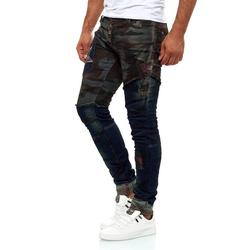 KINGZ Slim-fit-Jeans im Army-Look M