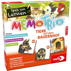 Noris Spiel, MemoTrio Bauernhoftiere