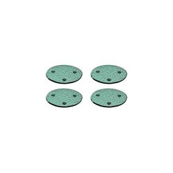 LEONARDO Glasuntersetzer BURANO Untersetzer grün 4er Set