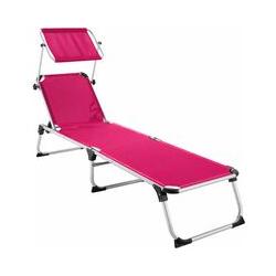 Tectake - Sonnenliege Aurelie - Strandliege, Beachliege, Sonnenliege - pink
