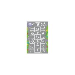 Kinderteppich Ultrasoft Spielteppich Bauernhof, ACHOKA® grau
