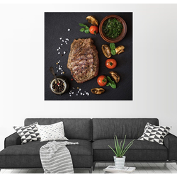 Posterlounge Wandbild, Steak richtig würzen 50 cm x 50 cm