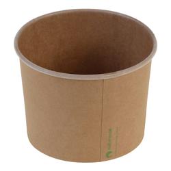 Eisbecher Pappbecher Kraft mit Biobeschichtung 480 ml Ø 105mm braun,  50 Stk.