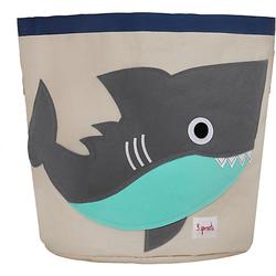 Aufbewahrungskorb Hai, 45 x 43 cm grau/türkis